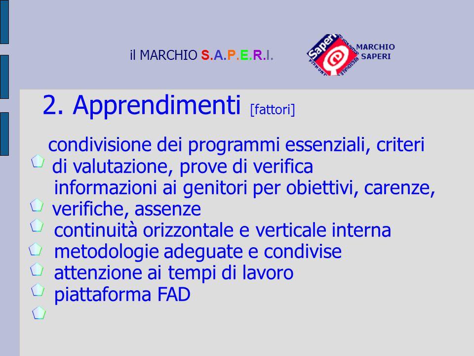 2. Apprendimenti [fattori]